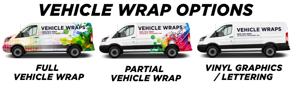 Hampton Vehicle Wraps vehicle wrap options