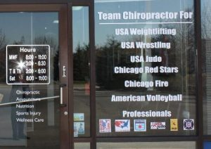 Chiropractic Office Door Vinyl