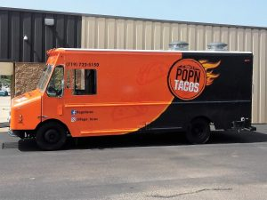 custom full food truck wrap